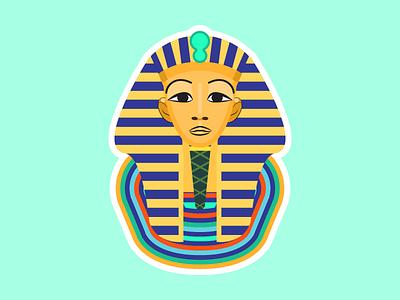 Art history Toetanchamon's mask ancient egypt online leren leren learning students custom illustration college courses basiseducatie educatie school education online learning