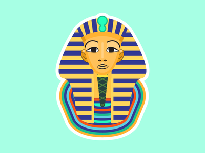Art history Toetanchamon's mask ancient egypt online leren leren learning students custom illustration college courses basiseducatie educatie school education online learning