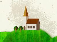 Texture behind the church