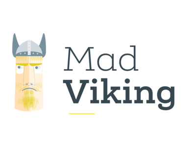 Mad Viking Logo yellow mad viking viking mad accountancy brand logo svg