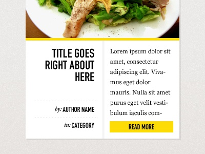 Article Preview blog list food listing news story article ui bright