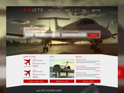 247 Jets web design interaction interactive ui ux interface parallax
