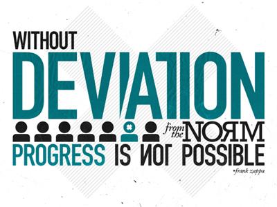 Deviation typography type infographic deviation
