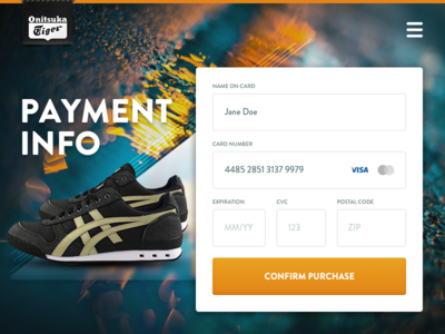 Credit Card Checkout ui ux form fashion sneakers store payment checkout card credit 002 dailyui