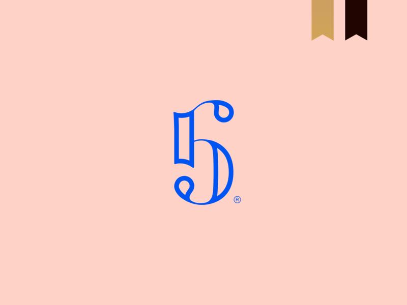 Rb5 Vinícola - Visual Brand 5 logotype gestalt brand simple mark monogram abstract minimalism logo