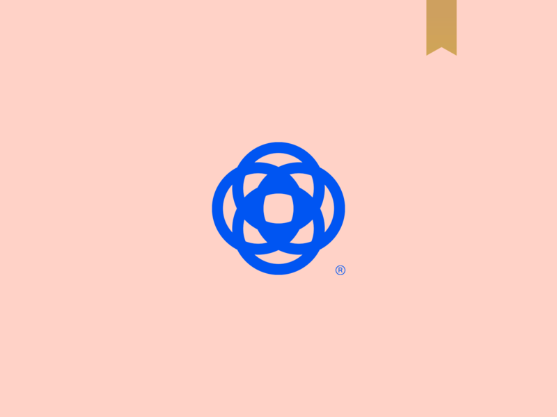 Atelier Barbara Melo - Visual Brand fashion logomark symbol flower geometric icon unique brand simple mark abstract minimalism logo