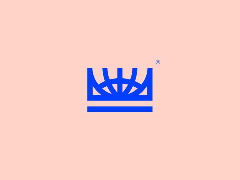E-com Masters - Visual Brand online digital globe master crown web world unique gestalt brand simple mark monogram abstract minimalism logo