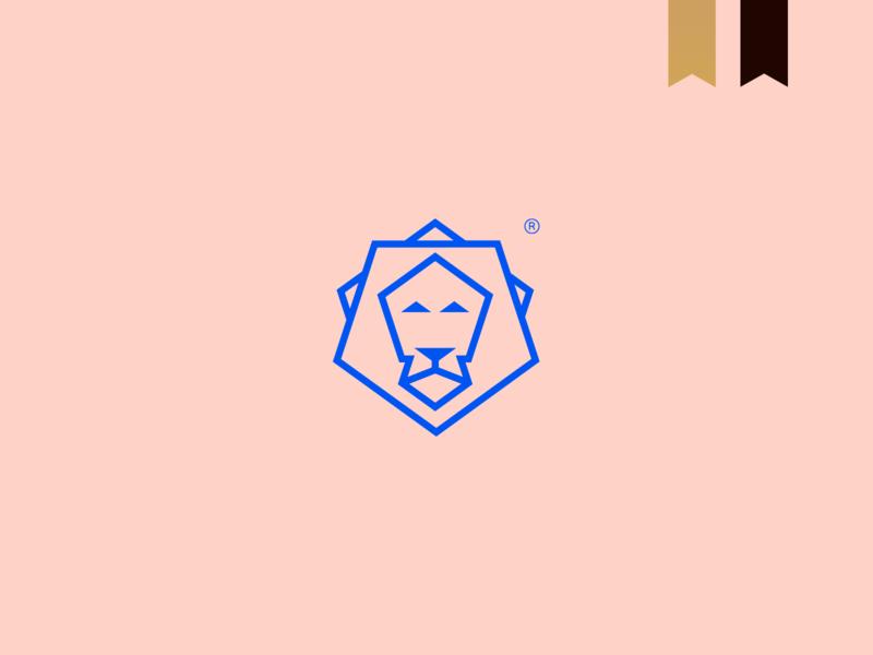 Pentagon - Visual Brand icon simple brand logotype logo minimalism lion logo lion abstract mark geometric
