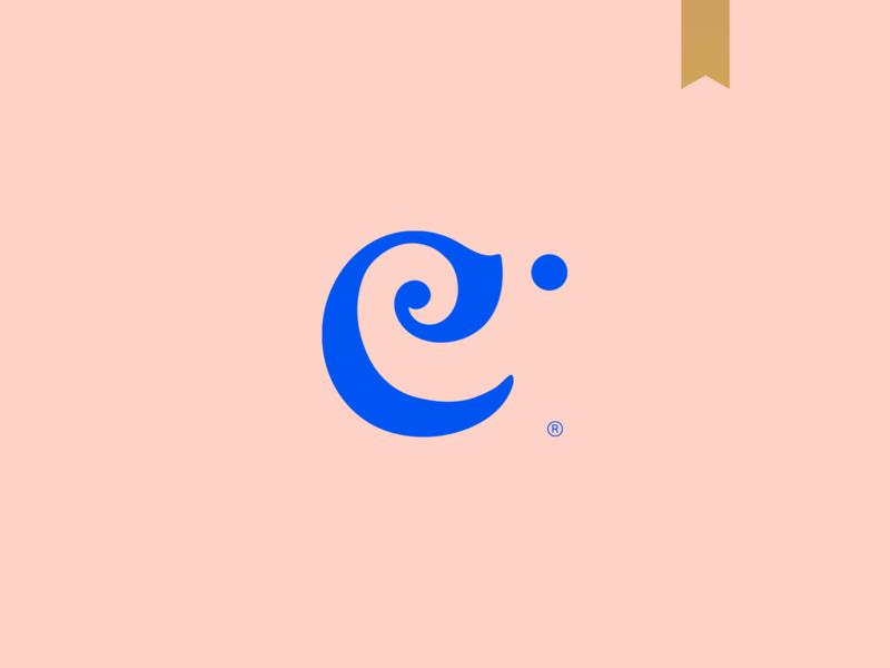 Elephant - Visual Brand logo logotype mark abstract minimalism simple brand animal animal logo elephant monogram