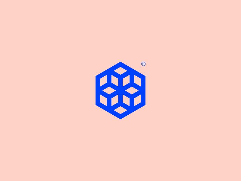 JIFTEX - Visual Brand geometric icon geometry brand simple mark logo minimalism hexagon