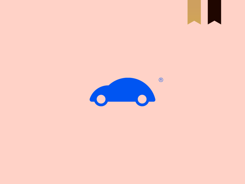 VolksBarbie - Visual Brand design logotype icon simple brand car mark abstract minimalism logo