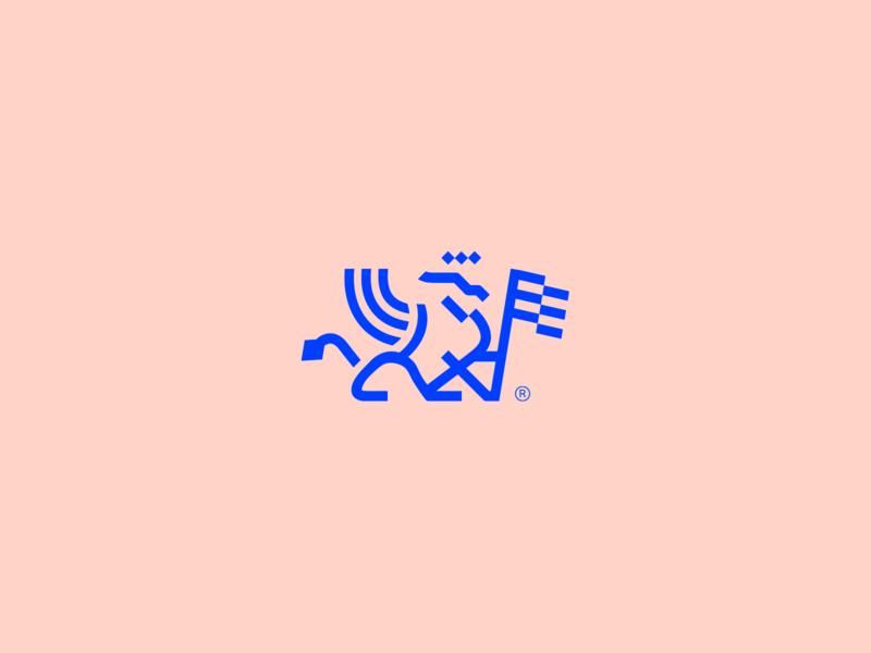 Gamma - Visual Brand griffin icon logo logotype mark abstract minimalism animal logo
