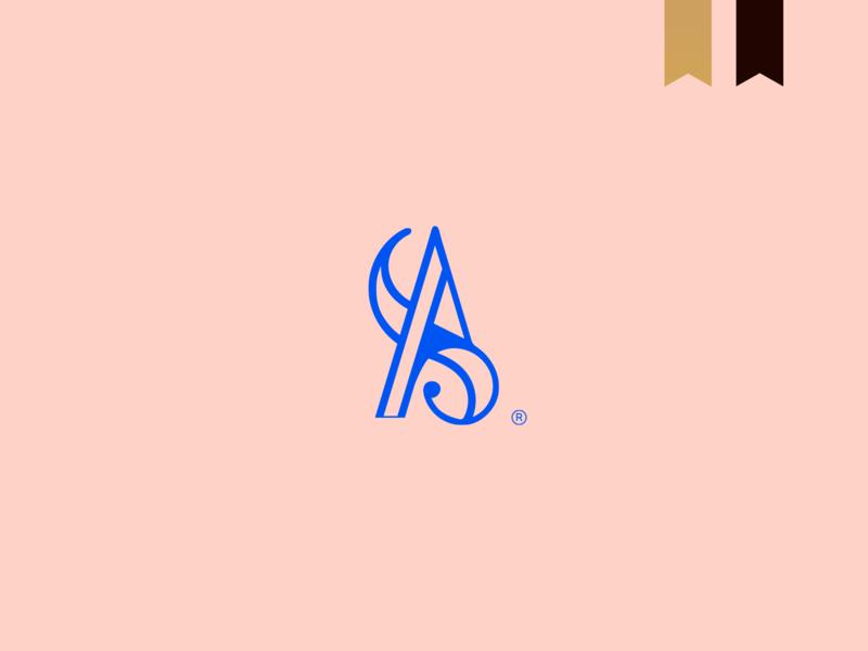 Aryana Stiehler - Visual Brand elegant icon logotype simple brand mark logo minimalism abstract monogram