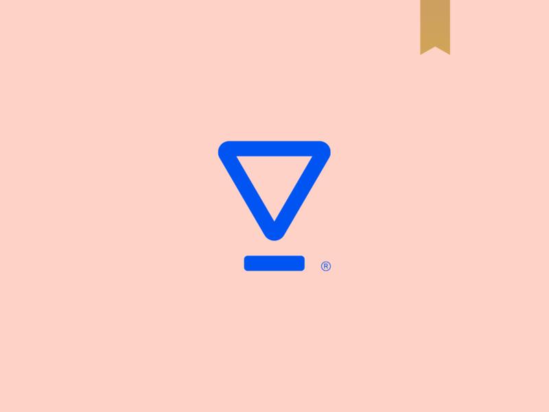 Holograma - Visual Brand icon logotype simple brand mark logo abstract minimalism triangle geometric