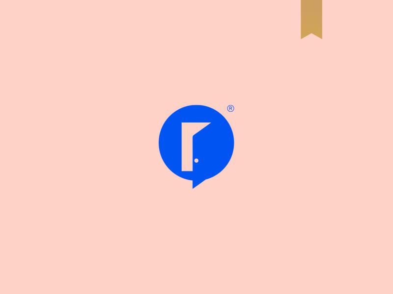 OpenTalk Marketing - Visual Brand icon logotype simple brand mark logo minimalism door talk