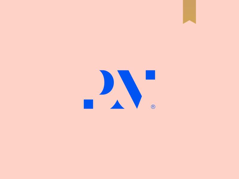 Patrick Müller - Visual Brand logotype brand mark minimalism logo abstract elegant gestalt monogram