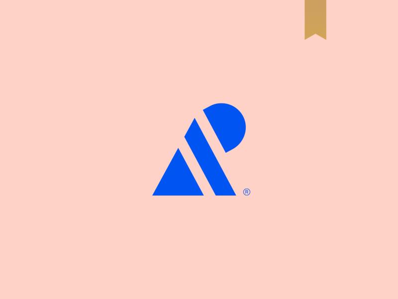 Amanda Passos - Visual Brand geometric icon simple logotype brand mark logo minimalism abstract kids monogram