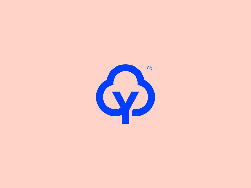 Naturally You - Visual Brand geometric cloud tree gestalt icon simple brand abstract mark minimalism logo