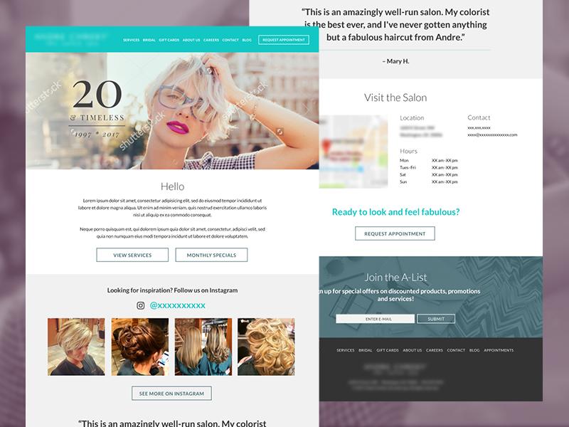 Project Limbo web design ui website hair re-design salon responsive