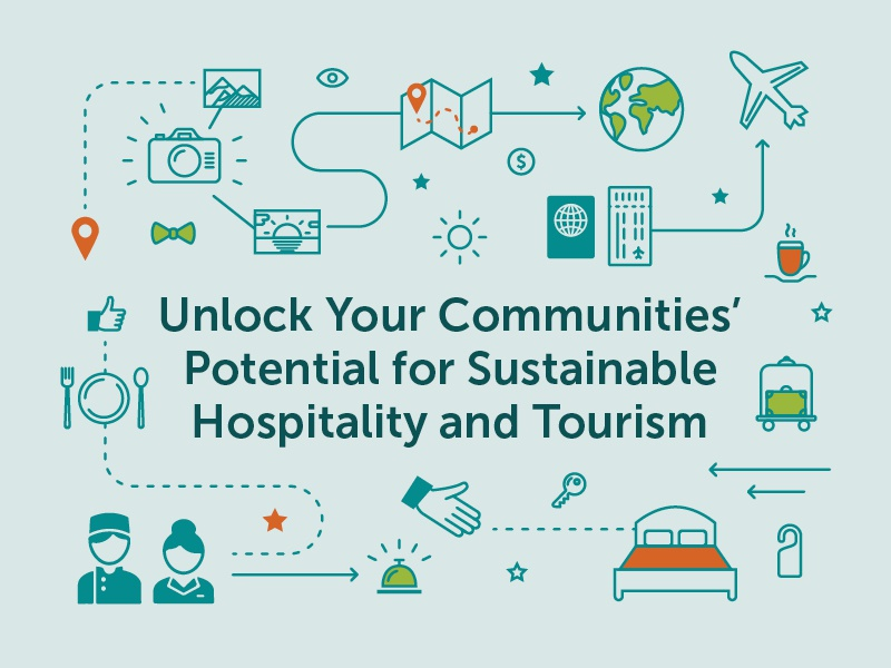 Global Solutions Icons vector sustainability global 2d icon tourism hospitality