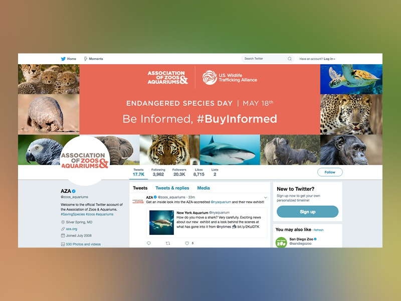 ESD Twitter Graphic social media species endangered animal wildlife aquarium zoo