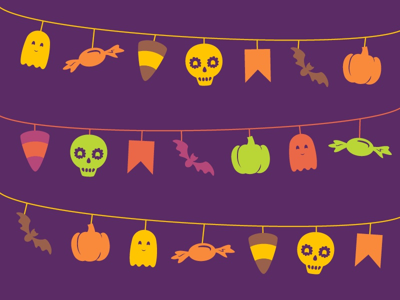 134 Days fiesta october icon 2d fall illustration halloween