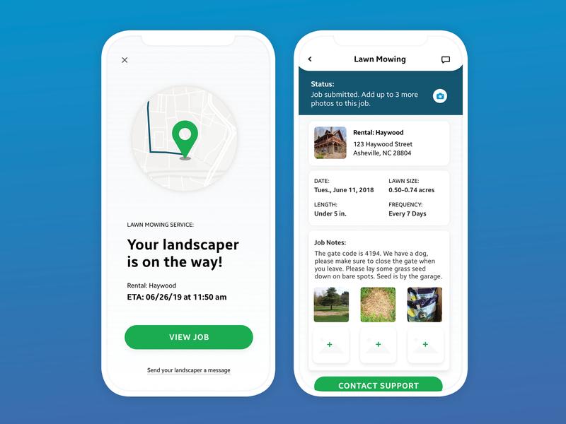 Active Job Notification app design ui ux