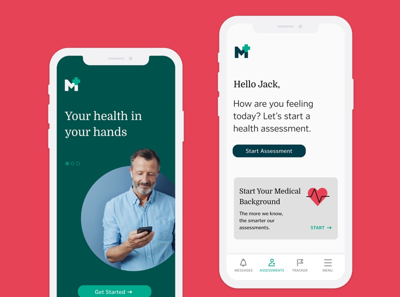 Medical Health Assessment Application app design ui ux product design