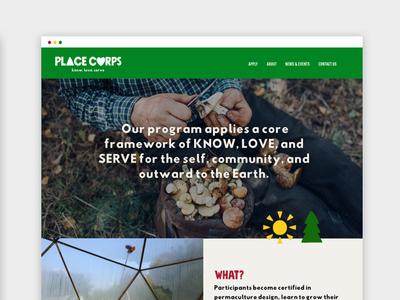 Place Corps Desktop View web illustration branding website design