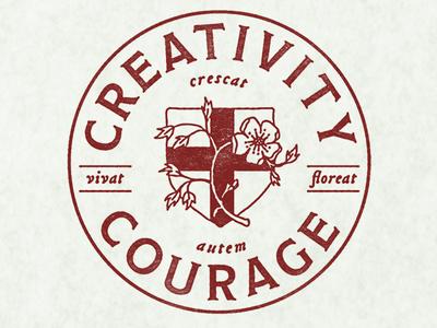 Creativity + Courage Seal design logo branding