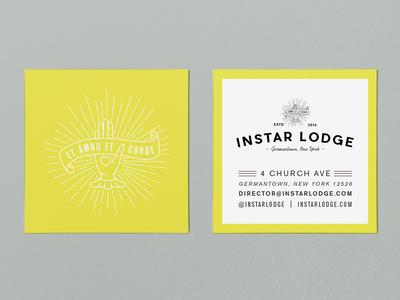 Instar Lodge Business Cards branding logo illustration print business card design design