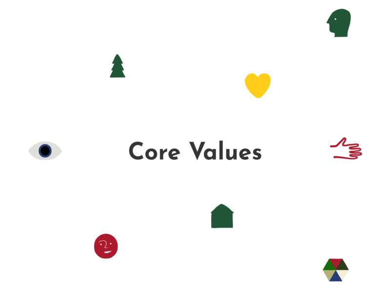 Place Corps Core Value Icon Set icon design icon set iconography icon illustration vector
