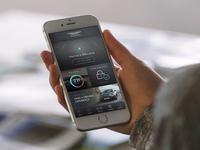 Aston Martin App Concept aston martin car user interface app ui