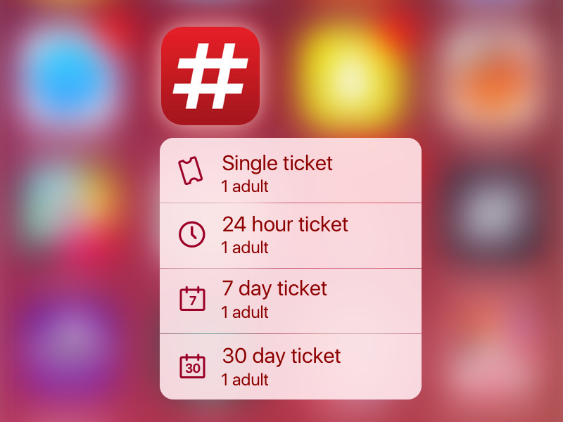 WEEK 7: RuterBillett Quick Action Menu menu quick action app icon 3d touch icon billett ruter
