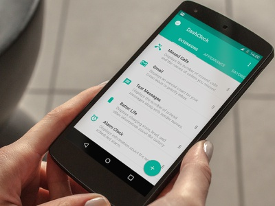 Dashclock Facelift android lollipop nexus ui material icons flat longshadow facelift dashclock ux app