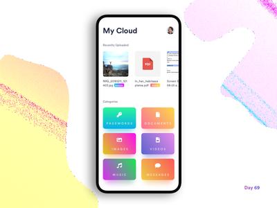 Daily UI Challenge: Day 69 Cloud Storage Management App