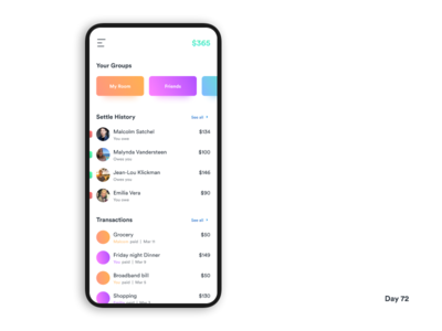 Daily UI Challenge: Day 72 Group Expense Manager