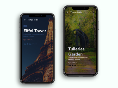 Daily UI Challenge: Day 85 Trip Planner App google trips tour trips tuileries garden eiffel tower to do things to do trip planner interaction design ux design ui design daily ui challenge