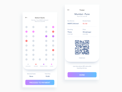 Daily UI Challenge: Day 87 Bus Ticket Booking App railway plane minimalistic android ios public transport bus ticket ecommerce interaction design ux design ui design daily ui challenge