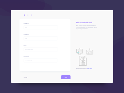 Daily UI Challenge: Day 89 Minimalistic Registration Form stepper sign up flow user stories visual design wireframes sign up registration minimalistic form elements ux design ui design daily ui challenge
