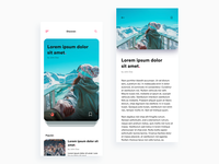 Daily UI Challenge: Day 93 Blog App using Invision Studio