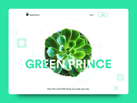 Daily UI Challenge: Day 96 Website for Tableplants