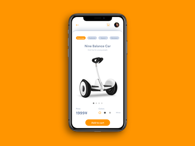 Daily UI Challenge: Day 99 Hoverboard Purchase App self balance car hoverboard millet xiaomi android ios iphonex ecommerce interaction design ux design ui design daily ui challenge