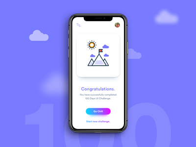 Daily UI Challenge: Day 100 android ios iphonex challenge completion success interaction design ux design ui design daily ui challenge