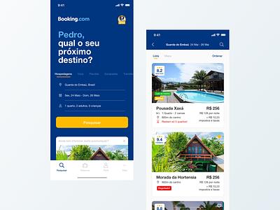 Booking.com Case Study redesign concept interaction design travel app booking.com product design ui  ux app