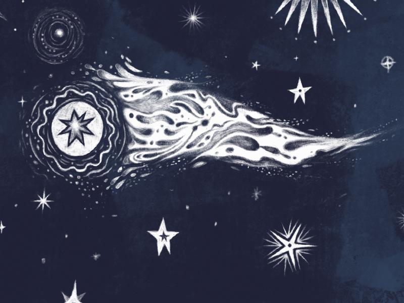 Stars stars night pattern photoshop comet illustration