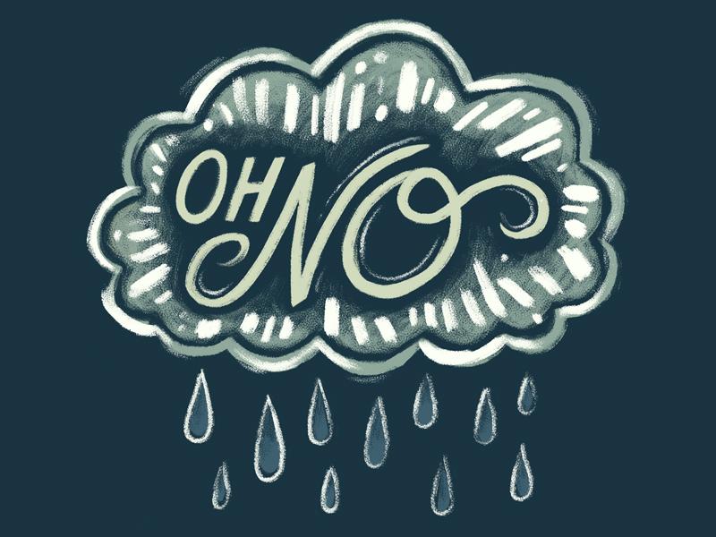 Rain type illustration rain lettering