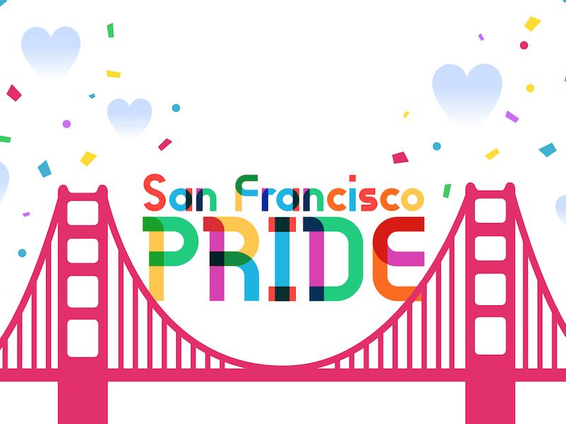 SF Pride queer hearts confetti gilbert pride san francisco