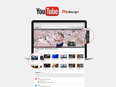 YouTube Redesign ui design youtube redesign