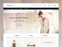 Web design for a Fashion site